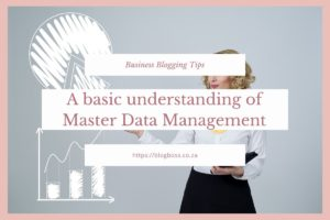 A basic understanding  of Master Data Management