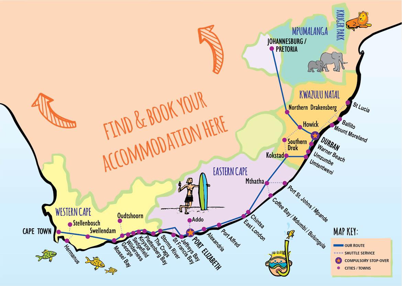 Baz Bus route