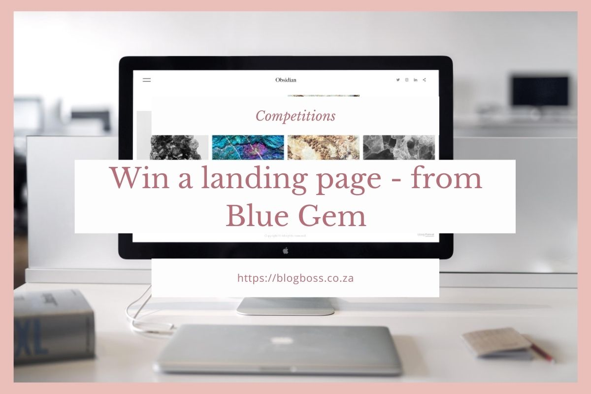 Win a landing page from Blue Gem